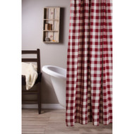 Buffalo Check Barn Red - Buttermilk Shower Curtain
