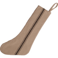 Grain Sack Stocking Black Stripe - Cream Stocking