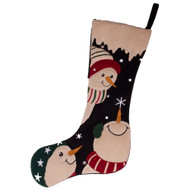 Snowfriends Black - Barn Red Stocking