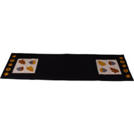 Acorn & Oak Leaf Black Table Runner
