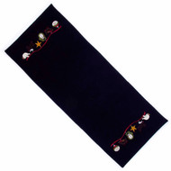 Christmas Ribbon Black Table Runner