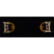 Cats on a Fence Black Table Runner