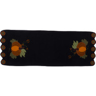 Pick A Pumpkin Black Table Runner