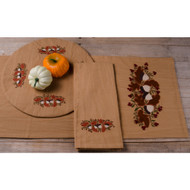 Acorns and Berries Tea Dyed Table Runner