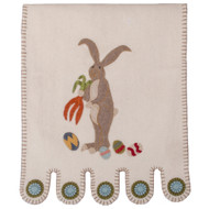 Bunny and Eggs Cream Table Runner