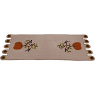 All American Pumpkin Cream Table Runner