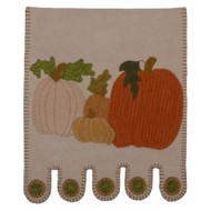 Pumpkin Field Gray Table Runner