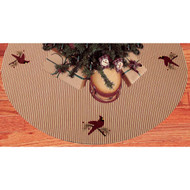 Ticking Cardinal Barn Red - Nutmeg Tree Skirt