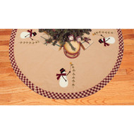 Pine Tree Wishes Nutmeg - Barn Red Tree Skirt