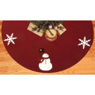 Happy Winter Days Barn Red Tree Skirt
