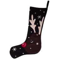 Reindeer Black Tree Skirt