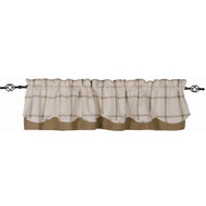 Bexley Check Cream - Oat Fairfield Valance