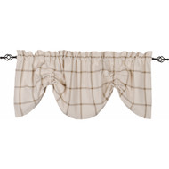 Bexley Check Cream - Oat Gathered Valance