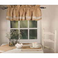 Burlap with Osenburg Burlap - Osenburg Valance