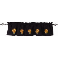 Sunflower Power Black Valance