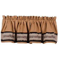 Wash Room Tea Dyed Valance