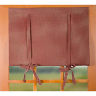 Newbury Gingham Barn Red - Oat Roll Tie Valance