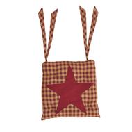 Burgundy Star Chair Pad 15x15