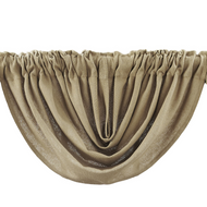 Burlap Natural Balloon Valance 60x15