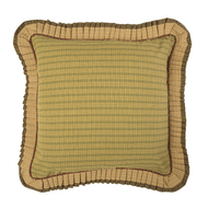 Tea Cabin Euro Sham Fabric Ruffled 26x26