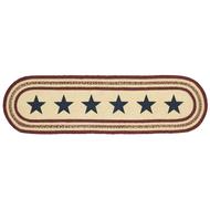 Potomac Jute Runner Stencil Stars 13x48