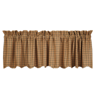 Millsboro Valance Scalloped Lined 16x72