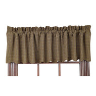 Tea Cabin Green Plaid Valance 16x72