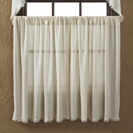 Tobacco Cloth Natural Tier Fringed Set of 2 L36xW36