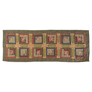 Tea Cabin Runner Quilted 13x36