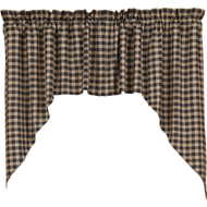 Bingham Star Swag Plaid Set of 2 36x36x16