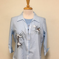 Chickadee Card 3/4 Sleeve Shirt