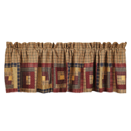Millsboro Valance Log Cabin Block Border Lined 16x72