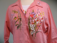 Orchids & Froggie 3/4 Sleeve Shirt