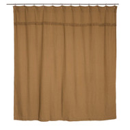 Burlap Natural Shower Curtain Unlined 72x72
