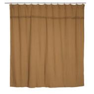 Burlap Natural Shower Curtain Unlined 72x72