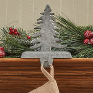 FIR TREE STOCKING HANGER GALVANIZED