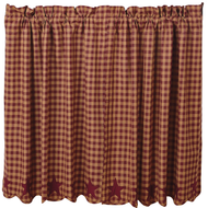Burgundy Star Scalloped Tier Set of 2 L36xW36