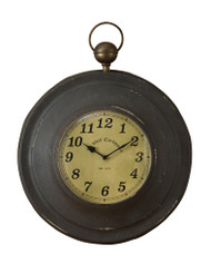 LARGE POCKET WATCH CLOCK BLACK