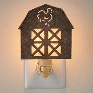 BARN NIGHT LIGHT GALVANIZED