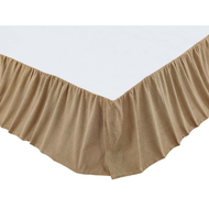 Burlap Natural Ruffled King Bed Skirt 78x80x16