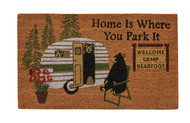 HOME IS WHERE YOU PARK DOORMAT