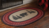 BEAR PRINTED BRAIDED RUG 32X42