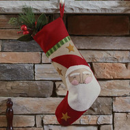 SNOW FRIENDS  SANTA FELT STOCKING