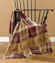 LIVE LAUGH LOVE THROW