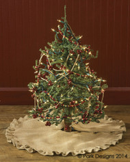 JUTE BURLAP TREE SKIRT 60""