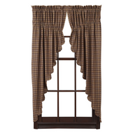 Prescott Prairie Curtain Scalloped Lined Set of 2 63x36x18