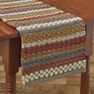 GATHERED PUMPKIN CHINDI TABLE RUNNER 15X72