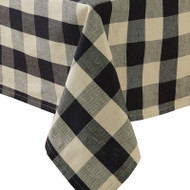 WICKLOW CHECK TABLECLOTH 54X54 BLACK