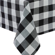 WICKLOW CHECK TABLECLOTH 54X54 BLACK/CREAM