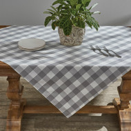 WICKLOW CHECK TABLECLOTH 54X54 DOVE